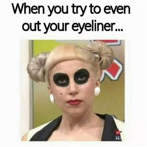 Mascara Meme - when you try to even out your eyeliner