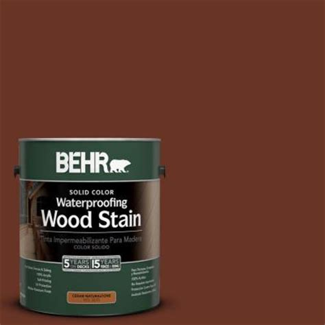 behr 1 gal sc 118 terra cotta solid color waterproofing wood stain 21301 the home depot
