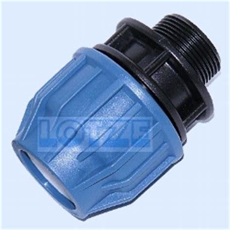 le wasserrohr pe rohr klemmverbinder pp 32 mm x 1 zoll au 223 engewinde dvgw