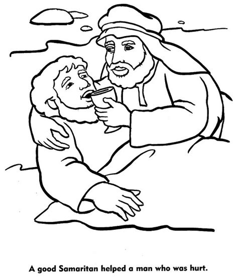 Coloring Page Samaritan by Samaritan Color Pages Bible Jesus And His Parables