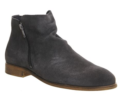 mens suede zip boots mens ask the missus blame zip boots grey suede boots