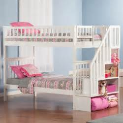 Bunk bed white twin over full bunk bed twin staircase bunk bed twin