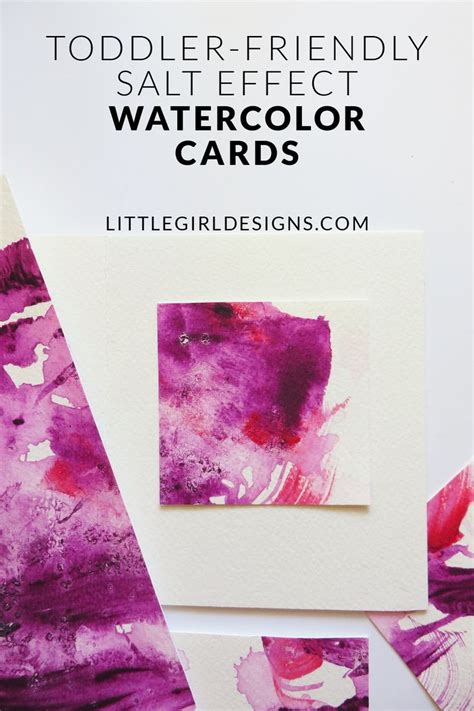 watercolor tutorial salt toddler friendly salt effect watercolor cards