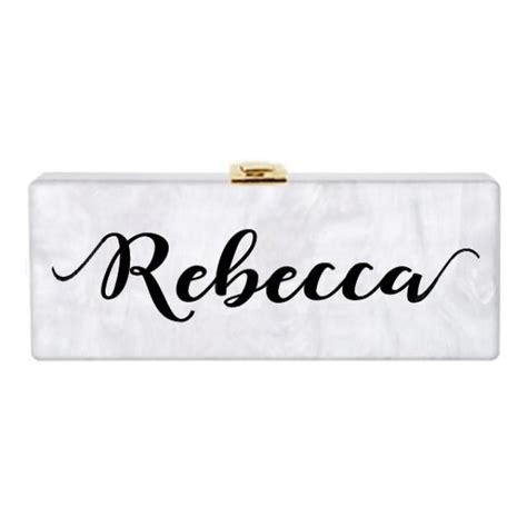Big Clutch Clutch Initian Nama personalized own name custom acrylic clutch bridal clutch evening clutch purse handbag chain