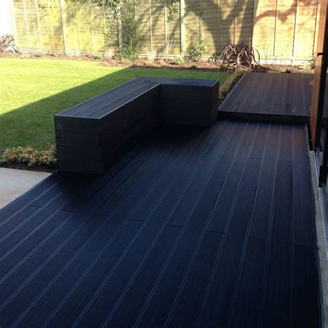 composite flooring composite deck board charcoal 143x23mm 3 6m hollow