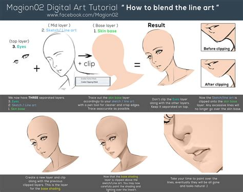 www tutorial how to blend line art tutorial by magion02 on deviantart