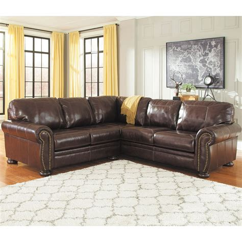 afw sectional 2pc raf sofa leather sectional 0h0 504rs 2pc ashley afw