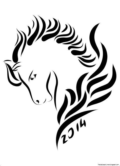 year of the horse tattoo designs 19 tribal designs simple line