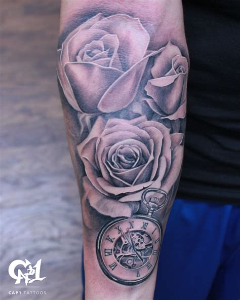 rose half sleeve tattoos cap1 tattoos tattoos capone and pocket