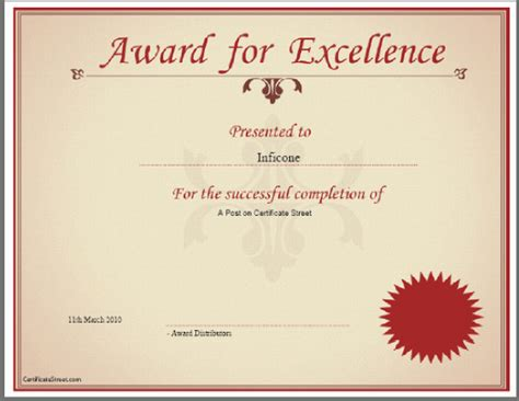 template for making award certificates certificates online free templates certificate templates