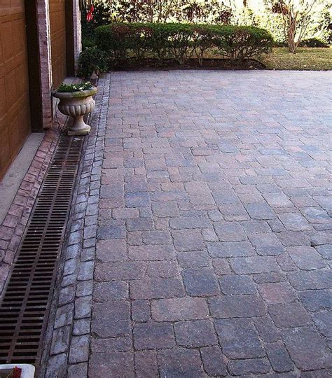 Paver Patio Drainage Paver Driveway With Drainage Channel Local Ktr Pavers Driveways