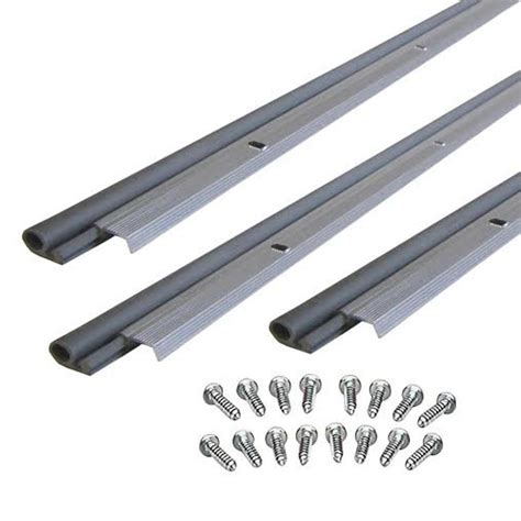 Best Weatherstripping For Exterior Door M D Building Products 7 8 In X 84 In Aluminum Door Jamb Top And Side Weatherstripping Set