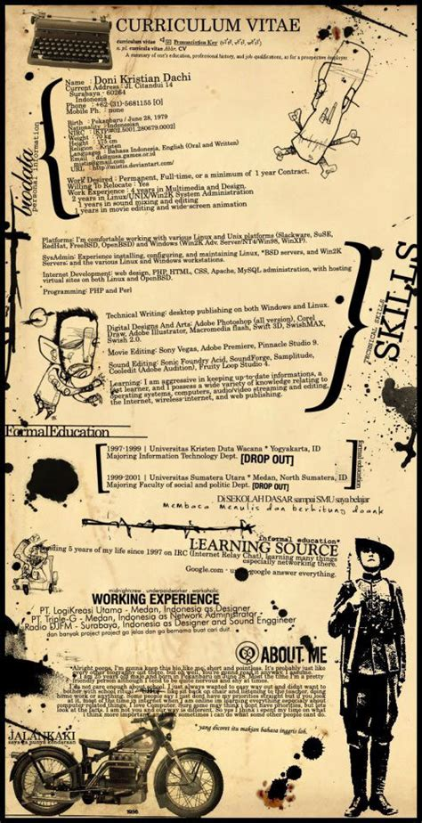 creative curriculum vitae sles 45 creative resumes to seize attention web burning blog