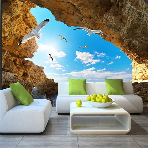 wallpaper 3d in wall beach tropical wall mural custom 3d wallpaper for walls
