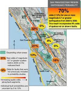california earthquake probability map major quake likely to strike between 2000 and 2030