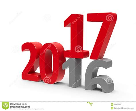 new year 2016 and 2017 2016 2017 illustration stock image 66453067