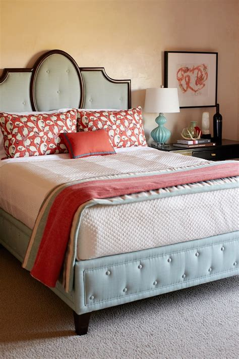 light blue and coral bedroom cococozy exclusive traditional home s napa valley