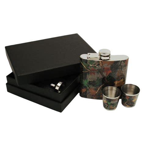 rivers edge products if you rivers edge products 990 flask w shot glasses camo