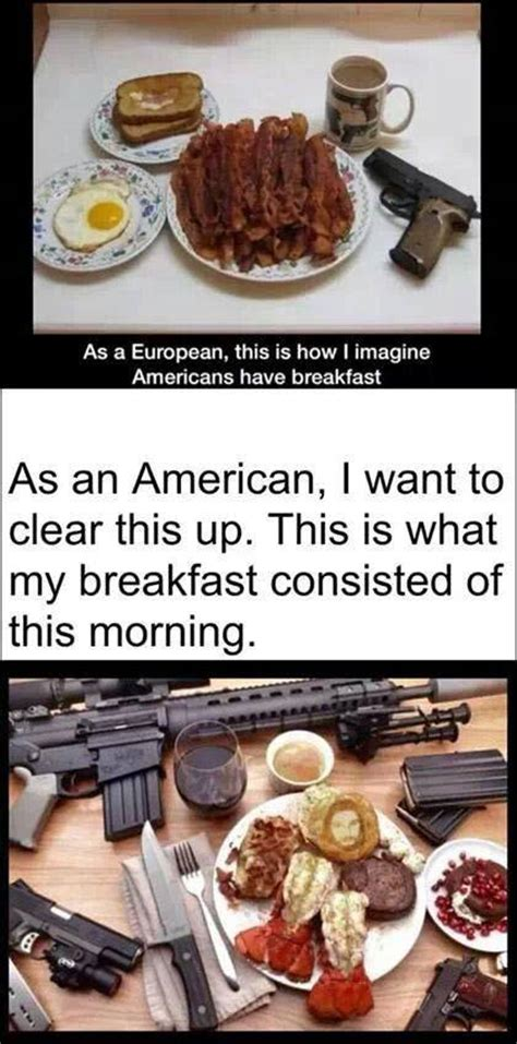 How To Be An American American Breakfast Wallshit