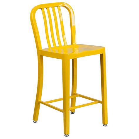 yellow bar stools flash furniture 24 5 in yellow bar stool ch6120024yl