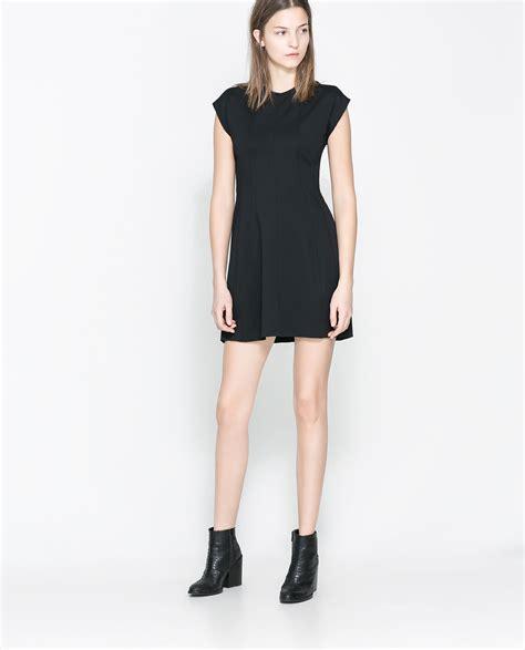 Dress Zara zara cotton dress in black lyst
