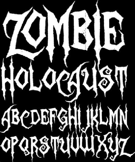 zombie tattoo fonts free fonts 40 creepy scary fonts dingbats