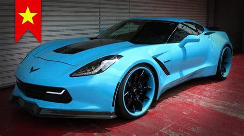 blue corvette 2014 blue corvette c7 stingray widebody by office k