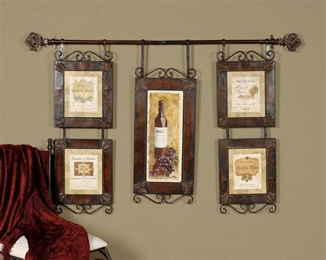 country wall decor large wine collage country tuscan wall decor ebay