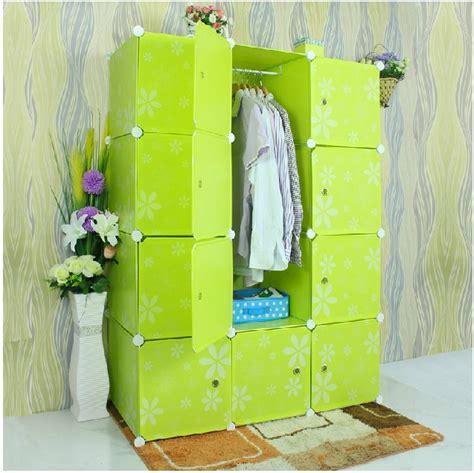 Lemari Plastik Hanger Embossed Plastic Cube Storage Cabinet Modern Furniture
