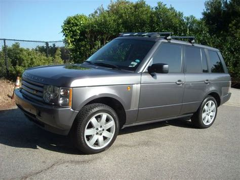 how to sell used cars 2005 land rover range rover user handbook sell used 2005 range rover hse bonatti gray metallic over charcoal leather in los angeles