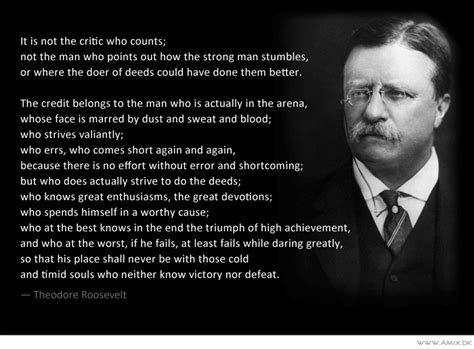 Picture Theodore Roosevelt Quotes About - the in the arena vs the critic what would spidey do