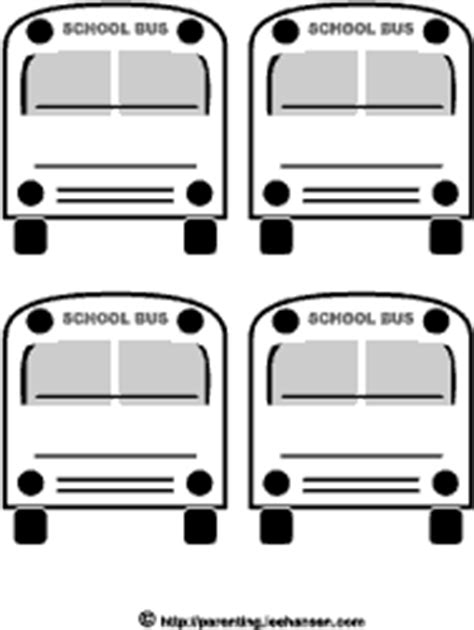printable bus tags for students printable school bus paper or stickers