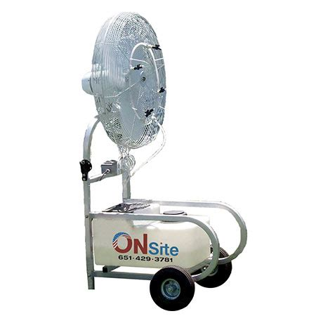 portable misting fans with tank misting fan rentals outdoor cooling on site co