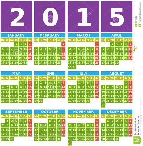 Calendario Grande Calendario Grande 2015 En Dise 241 O Plano Con Los Iconos