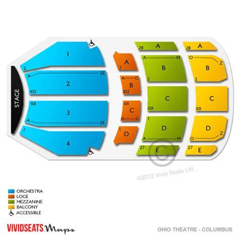 ohio theater seating chart ohio theater seating chart columbus new calendar