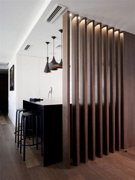 Slatted Room Divider | wood slat room dividers to add warmth to your home