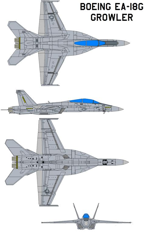 Drawing Blueprints boeing ea 18g growler by bagera3005 on deviantart
