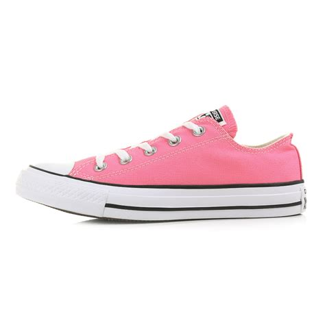 Converse All Pink Low womens converse all ox pink low top trainers size ebay