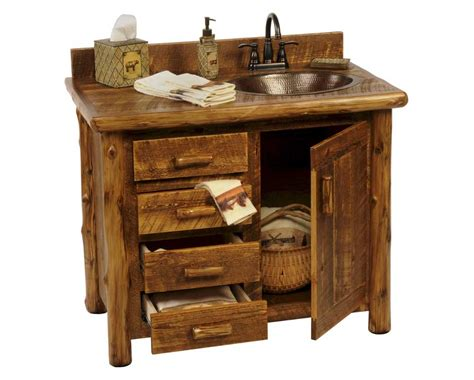 Bathroom Vanities Rustic With Simple Cabinet Design Home Rustic Bathroom Storage