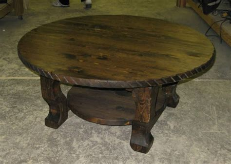 rustic round coffee table unique rustic coffee tables home design ideas and pictures