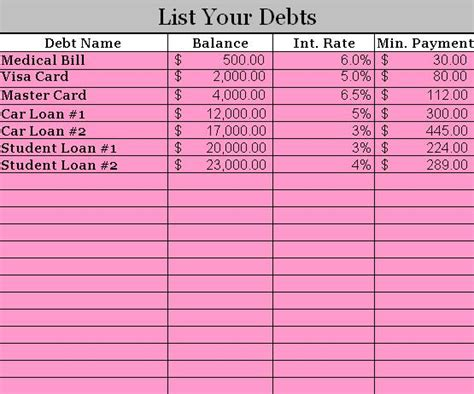 free debt snowball calculator program trees full of money