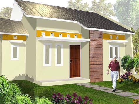 gambar rumah minimalis sederhana cat ungu motif