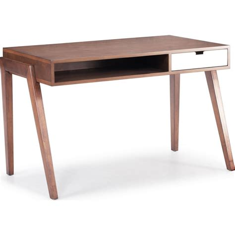 Schreibtische Vintage by Zuo Modern 199054 Linea Retro Leg Writing Desk In Walnut