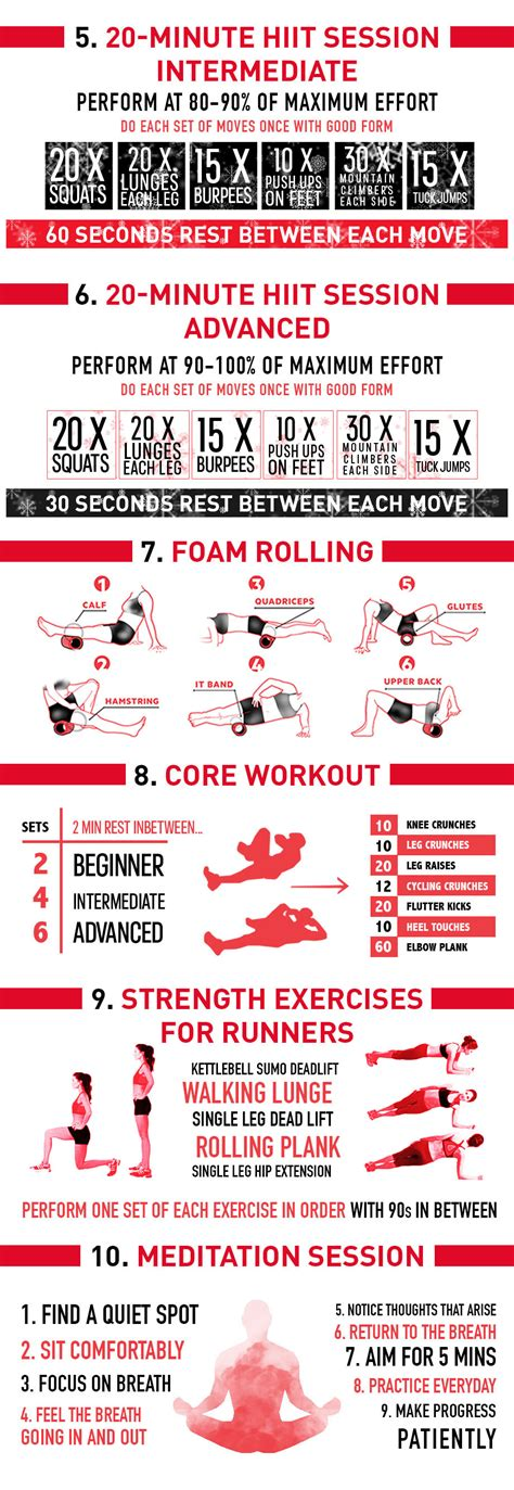 at home workouts for the holidays infographic polar
