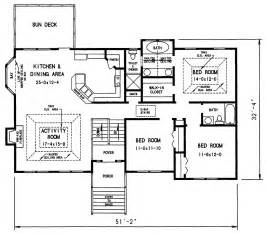 split floor plan house plans