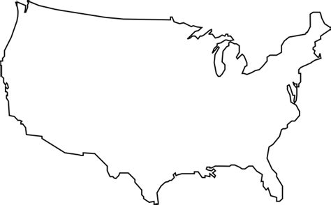 usa map outline clip outline of united states clipart bbcpersian7 collections