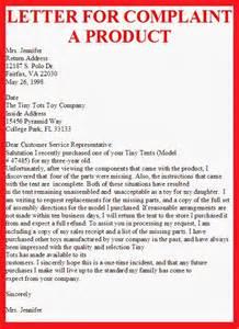Business Letter Complaint Business Letter Letter For Complaint A Product