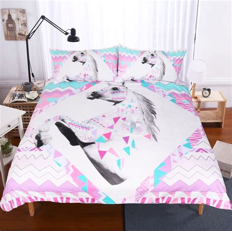 V Bed Bed Cover Set 120x200x30 No 3 Single Size Valen Diskon lai yin sun bedding set 3d unicorn duvet cover and pillowcase indian style print