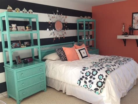 teal bedrooms girl s teal coral bedroom