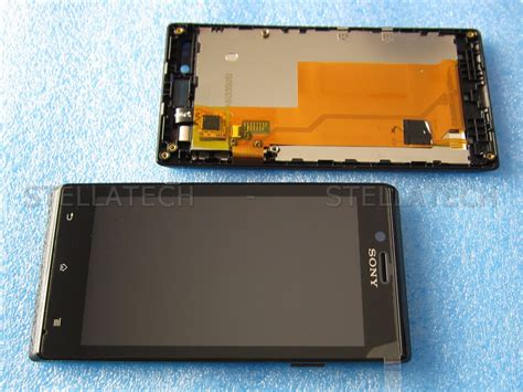 Lcd Touchscreen Frame Sony St 26 sony xperia j st26i complete display lcd touchscreen